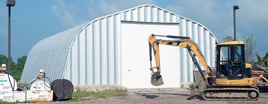 Excavator garage