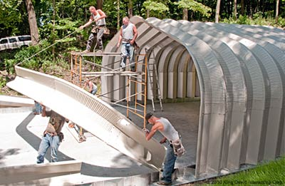 Do it yourself steel design mayflower steel buildings raise arches into place solutioingenieria Choice Image